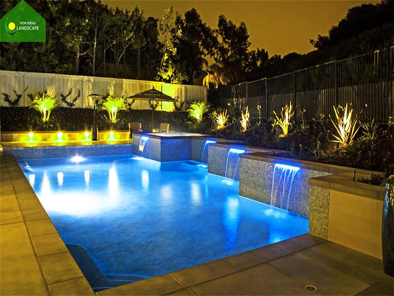 đèn trang trí hồ bơi